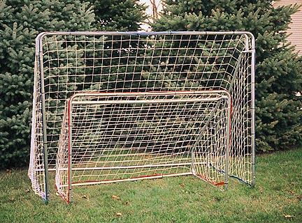8' W x 6' H x 4' D Indoor / Outdoor Steel Goal