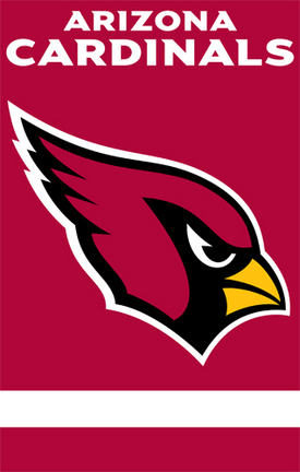 Arizona Cardinals NFL Applique Banner Flag