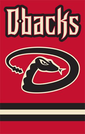Arizona Diamondbacks MLB Applique Banner Flag TPA-AFARZ