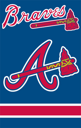 Atlanta Braves MLB Applique Banner Flag TPA-AFATL