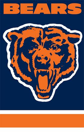Chicago Bears NFL Applique Banner Flag TPA-AFCH