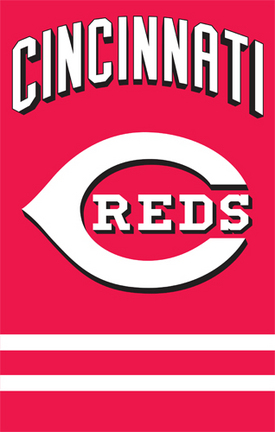 Cincinnati Reds MLB Applique Banner Flag TPA-AFCIN