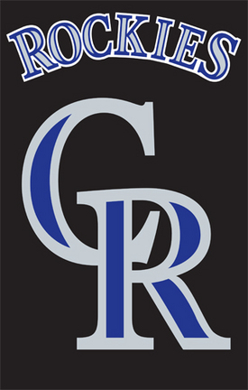 Colorado Rockies MLB Applique Banner Flag TPA-AFCOL