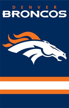 Denver Broncos NFL Applique Banner Flag TPA-AFDB