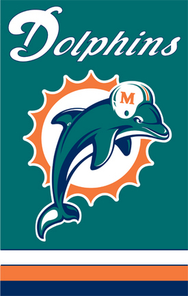 Miami Dolphins NFL Applique Banner Flag TPA-AFMD