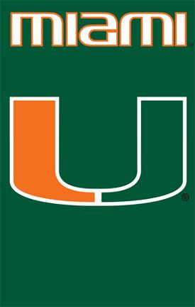 Miami Hurricanes NCAA Applique Banner Flag TPA-AFMIA