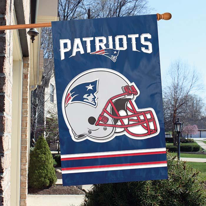 New England Patriots NFL Applique Banner Flag