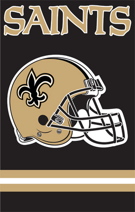 New Orleans Saints NFL Applique Banner Flag