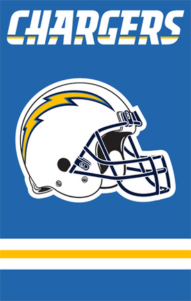 San Diego Chargers NFL Applique Banner Flag TPA-AFSD