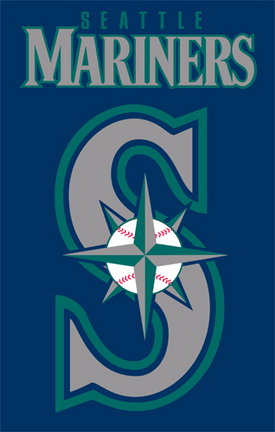 Seattle Mariners MLB Applique Banner Flag