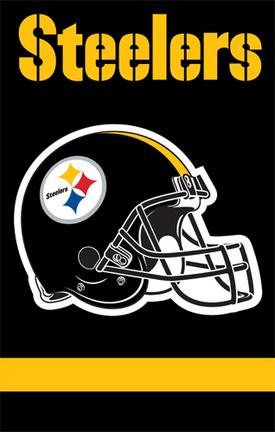 Pittsburgh Steelers NFL Applique Banner Flag TPA-AFST
