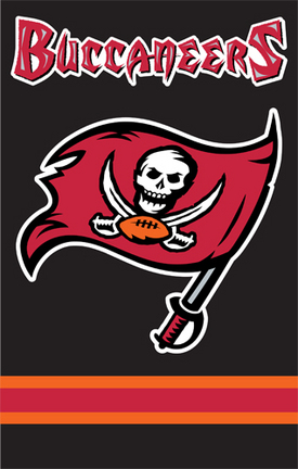 Tampa Bay Buccaneers NFL Applique Banner Flag