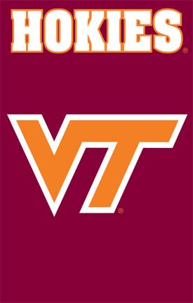 Virginia Tech Hokies NCAA Applique Banner Flag TPA-AFVT
