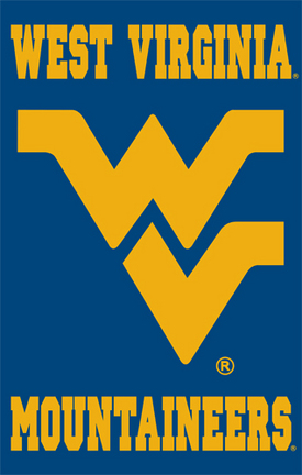 West Virginia Mountaineers NCAA Applique Banner Flag