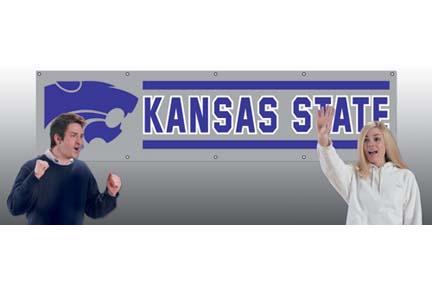 Kansas State Wildcats NCAA 8-Foot Banner TPA-BKSS