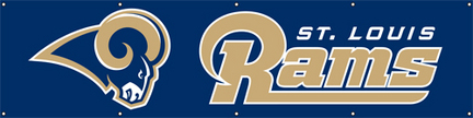 St. Louis Rams NFL 8-Foot Banner