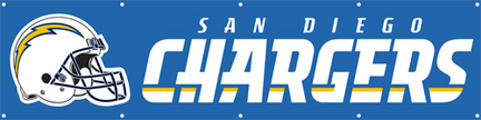 San Diego Chargers NFL 8-Foot Banner TPA-BSD