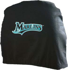 Florida Marlins Head Rest Covers - Set of 2