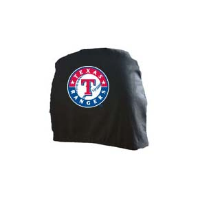 Texas Rangers Head Rest Covers - Set of 2