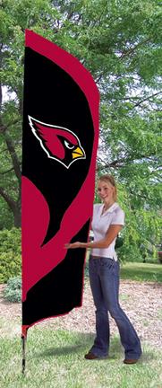 Arizona Cardinals NFL Tall Team Flag with Pole TPA-TTAC