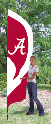 Alabama Crimson Tide NCAA Tall Team Flag with Pole TPA-TTAL