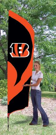 Cincinnati Bengals NFL Tall Team Flag with Pole TPA-TTBE