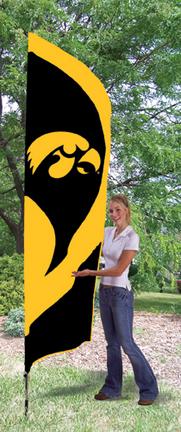 Iowa Hawkeyes NCAA Tall Team Flag with Pole TPA-TTIA