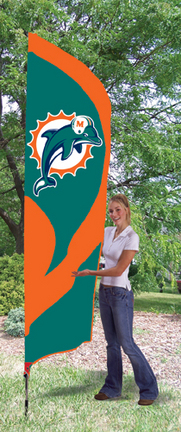 Miami Dolphins NFL Tall Team Flag with Pole TPA-TTMD