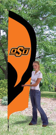 Oklahoma State Cowboys NCAA Tall Team Flag with Pole TPA-TTOKS