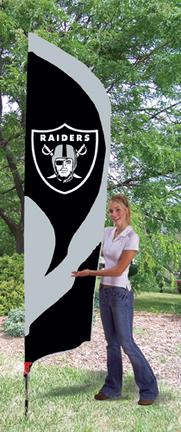 Oakland Raiders NFL Tall Team Flag with Pole TPA-TTRA