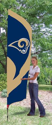 St. Louis Rams NFL Tall Team Flag with Pole TPA-TTRM