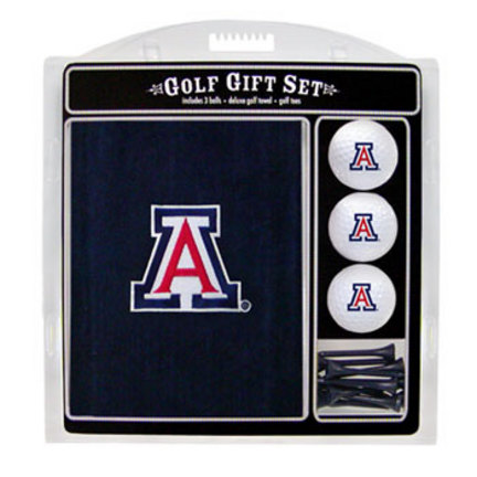 Arizona Wildcats Golf Balls, Golf Tees, and Embroidered Towel Set (20220 Team Golf) photo