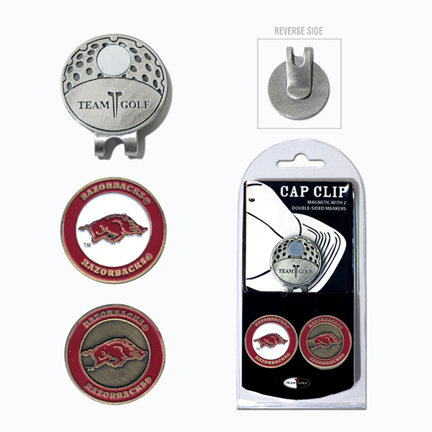 Arkansas Razorbacks Golf Marker and Cap Clip Pack