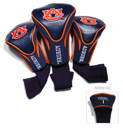 Auburn Tigers Contour Fit Golf Headcover (3-Pack)
