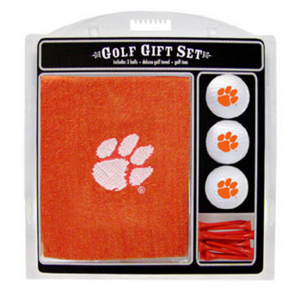 Clemson Tigers Golf Balls, Golf Tees, and Embroidered Towel Set (20620 Team Golf) photo