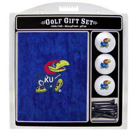 Kansas Jayhawks Golf Balls, Golf Tees, and Embroidered Towel Set (21720 Team Golf) photo