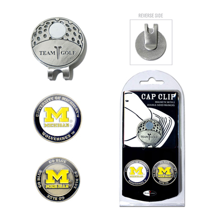 Michigan Wolverines Golf Marker and Cap Clip Pack