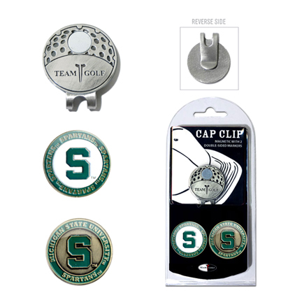 Michigan State Spartans Golf Marker and Cap Clip Pack
