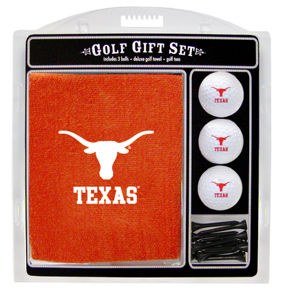 Texas Longhorns Golf Balls, Golf Tees, and Embroidered Towel Set (23320 Team Golf) photo