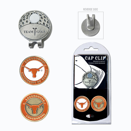 Texas Longhorns Golf Marker and Cap Clip Pack