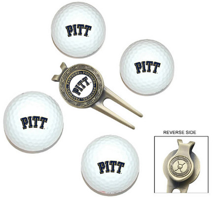 Pittsburgh Panthers Golf Balls, Divot Tool, and Ball Marker Gift Set