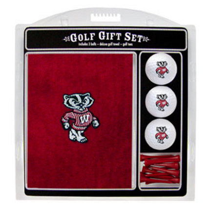 Wisconsin Badgers Golf Balls, Golf Tees, and Embroidered Towel Set (23920 Team Golf) photo