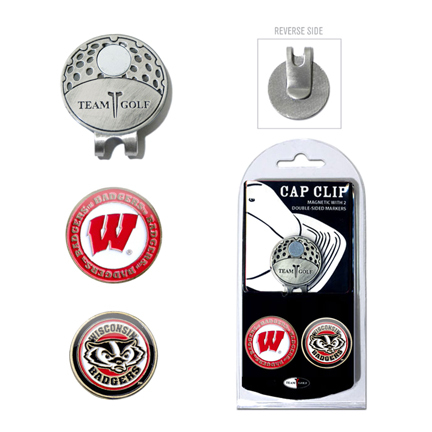 Wisconsin Badgers Golf Marker and Cap Clip Pack
