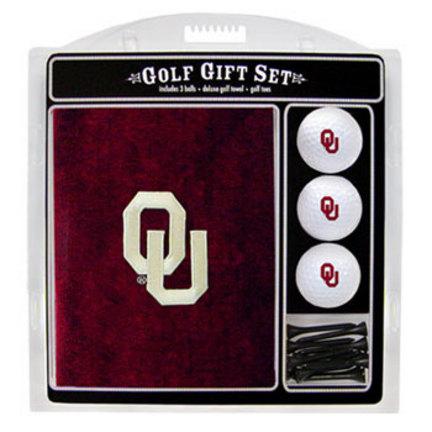 Oklahoma Sooners Golf Balls, Golf Tees, and Embroidered Towel Set (24420 Team Golf) photo