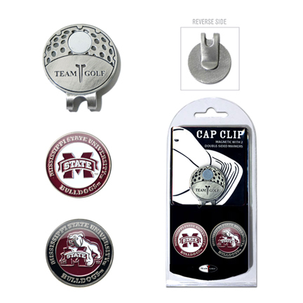 Mississippi State Bulldogs Golf Marker and Cap Clip Pack
