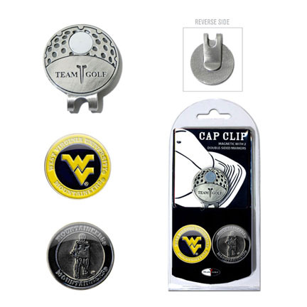 West Virginia Mountaineers Golf Marker and Cap Clip Pack