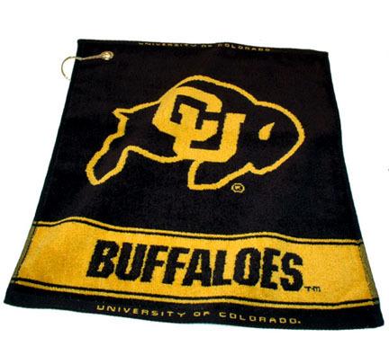 "Colorado Buffaloes 16"""" x 19"""" Woven Golf Towel (Set of 2)"" TMG-25780"