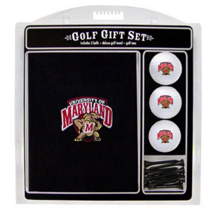 Maryland Terrapins Golf Balls, Golf Tees, and Embroidered Towel Set (26020 Team Golf) photo