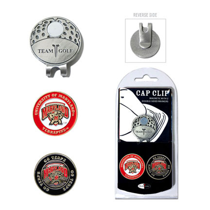 Maryland Terrapins Golf Marker and Cap Clip Pack