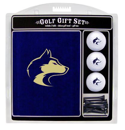 Washington Huskies Golf Balls, Golf Tees, and Embroidered Towel Set (28520 Team Golf) photo